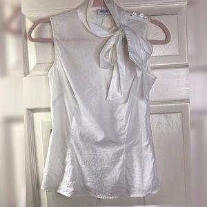 Moschino Jeans Vintage white sleeveless blouse